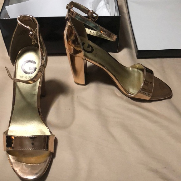 d8bcc6256 Guess Shoes | Rose Gold Heel | Poshmark